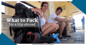 packing checklist, backpacking Europe, arboursabroad